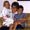 Emma Ruth Schwartz-Robison (my mom)  holding her grandchildren, Dane William Robison and Kari Leigh Robison (Bill and Nancy's Children)