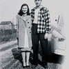 Betty Bay and Uncle Joe before they were married - they met at the Hemlock/Merrill farm - their farms were next to each other on the same road.
