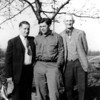 (L>R) Uncle Paul (Gladys' brother), Uncle Joe Gillys (Gladys' brother-in-law) and Great Grandpa, Harry Day