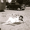 The 'sun goddess' - Aunt June at the beach