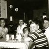 Schwartz farm in Blanchard - sharing Gladys' great food are (L>R) Jim R, Sharon B, Mary S, Connie B, Nola, P, Linda R and Bill R.