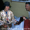 Always pranks, jokes and lots of smiles when the Schwartz' got together -  Looks like Betts dressed up in clothes from the Phillipines and greeted Joe and Betty with morning coffee ;-)