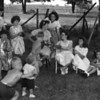 1951 fun on the farm (L > RT) Mary, Ruth, Linda, Betty, Ardel, June, Nola, Sharon - <br /> boys in front Brad, Jim, Bill (me;-)