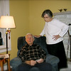 Uncle Joe and Aunt Betty Bay at their home.