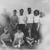 The Schwartz family always had fun when together - usually a ball game or 'Snipe' hunting...<br /> <br /> (L>R) Cecil, Dale, Rudy, Joe, Ardel, Betty Bay (Joe's wife) - -  (Frt) Ruth, Betty L, June