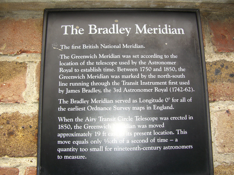 I like this, the Bradley Meridan, as the plaque states is just a bit off course, reminds me of a Grandfather I know!