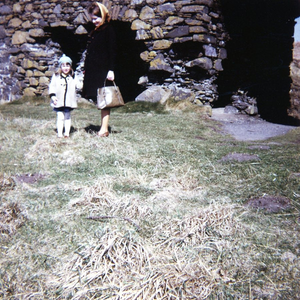 Christine and Bonnie at Dunskey Castle