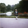 Christine at a park in London, July 1970. She went with Sayre to get passport for Seth for trip home.