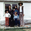 With our neighbors in Kent, including Christine's best friend Stephen. His mom Kate wore long dresses and tall boots in which she slipped hashish which she procured in London. Her daughter, Beverly, in blue and purple stands next to her boyfriend. They returned to Canada shortly after we left Kent. Her daughter wrote us a couple of months later that Kate was killed in an auto accident. Kate made her own clothes as well as a tie-dyed teepee in which the kids played in their backyard, which was one third of the Almshouse property. Their afghan hound would kill and bring home lambs. So a neighboring farmer warned Kate to keep it tied up or he would shoot it.