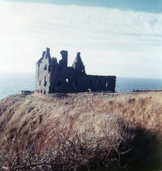 We loved climbing in the ruins of Dunskey Castle.