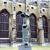 ancient and modern structures, Canterbury Cathedral and Henry Moore