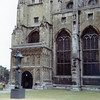 Canterbury Cathedral, July 1970. Henry Moore sculpture in foreground