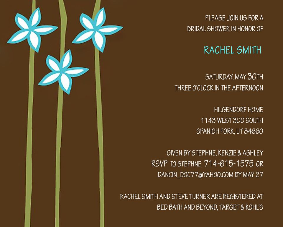 Rachel's Shower Invite