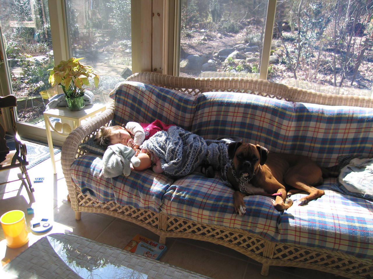 Kaidyn and Daisy taking a nap