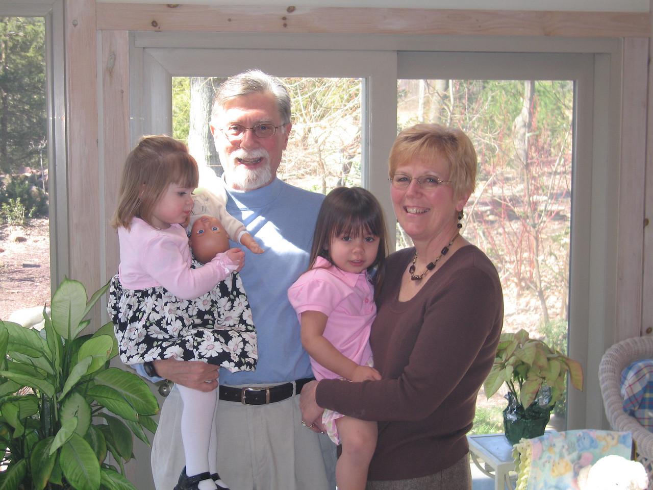 Easter - Grandpa, Grandma, Anna & Kaidyn