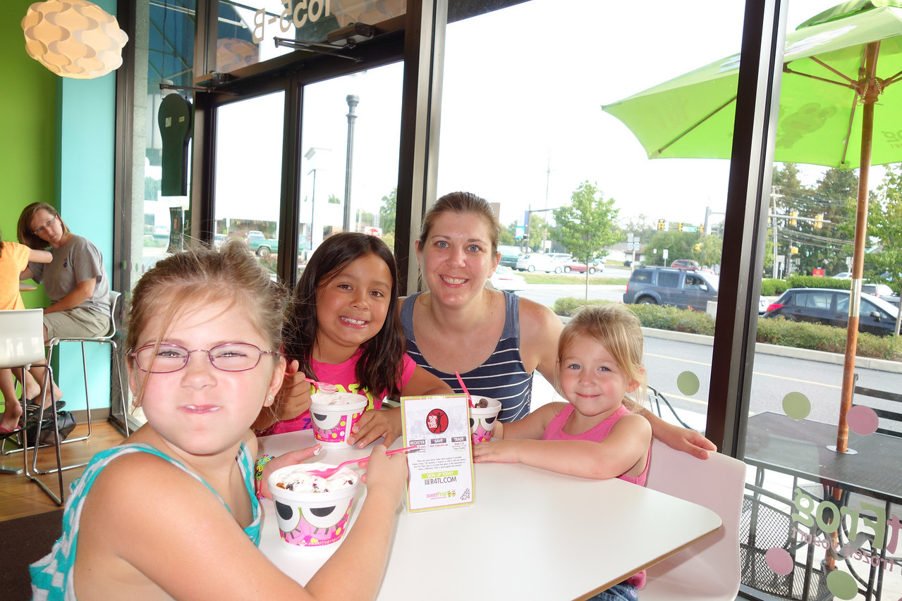 At the Sweet Frog for dessert