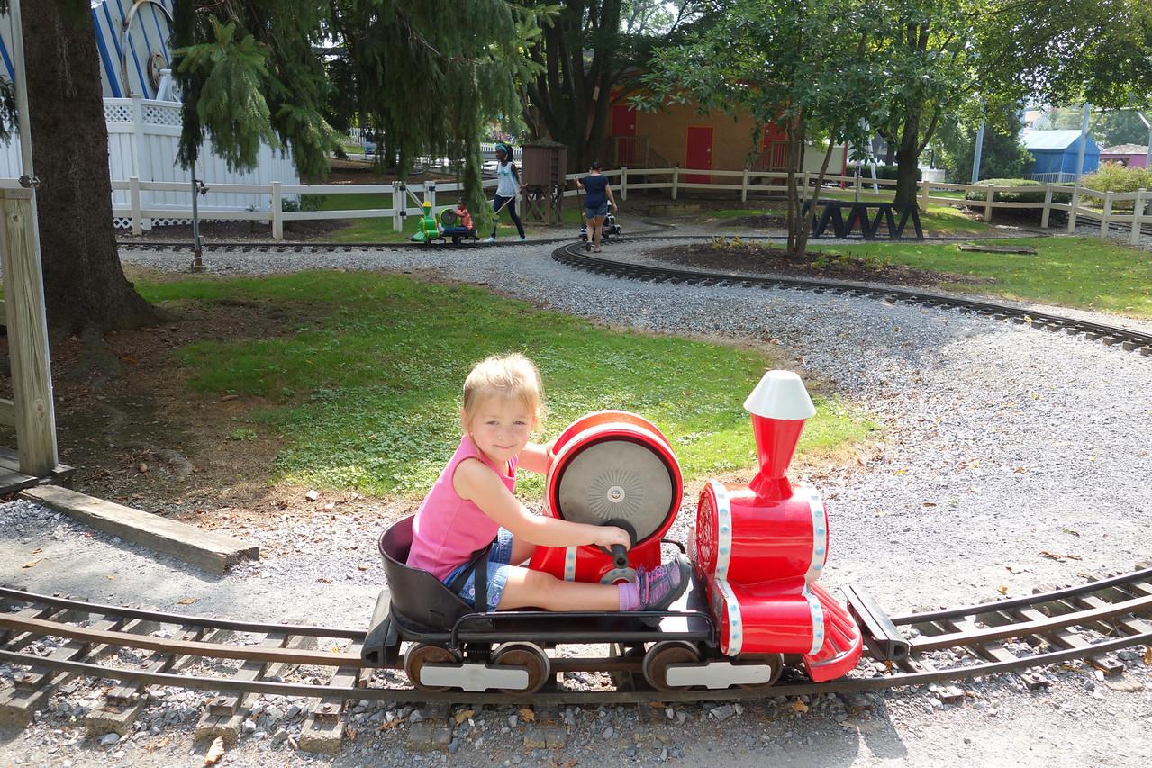 Katrina riding the train