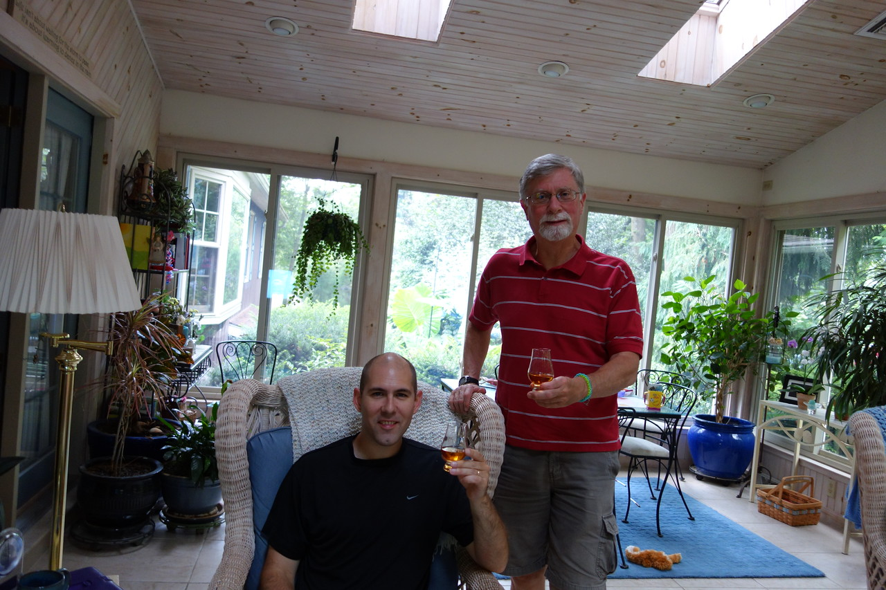 David and Dave having a dram (Tyrndrum Gold)