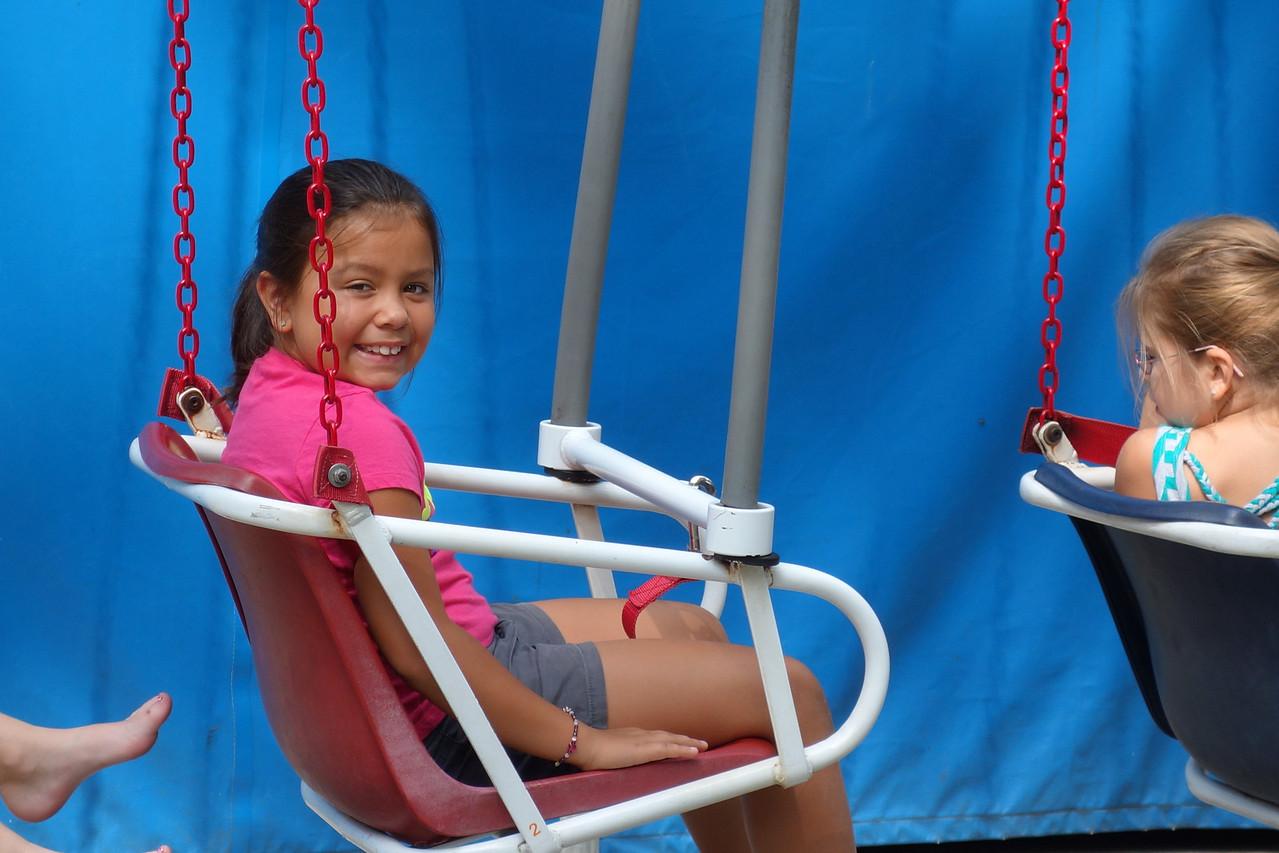 Kaidyn on the Swings
