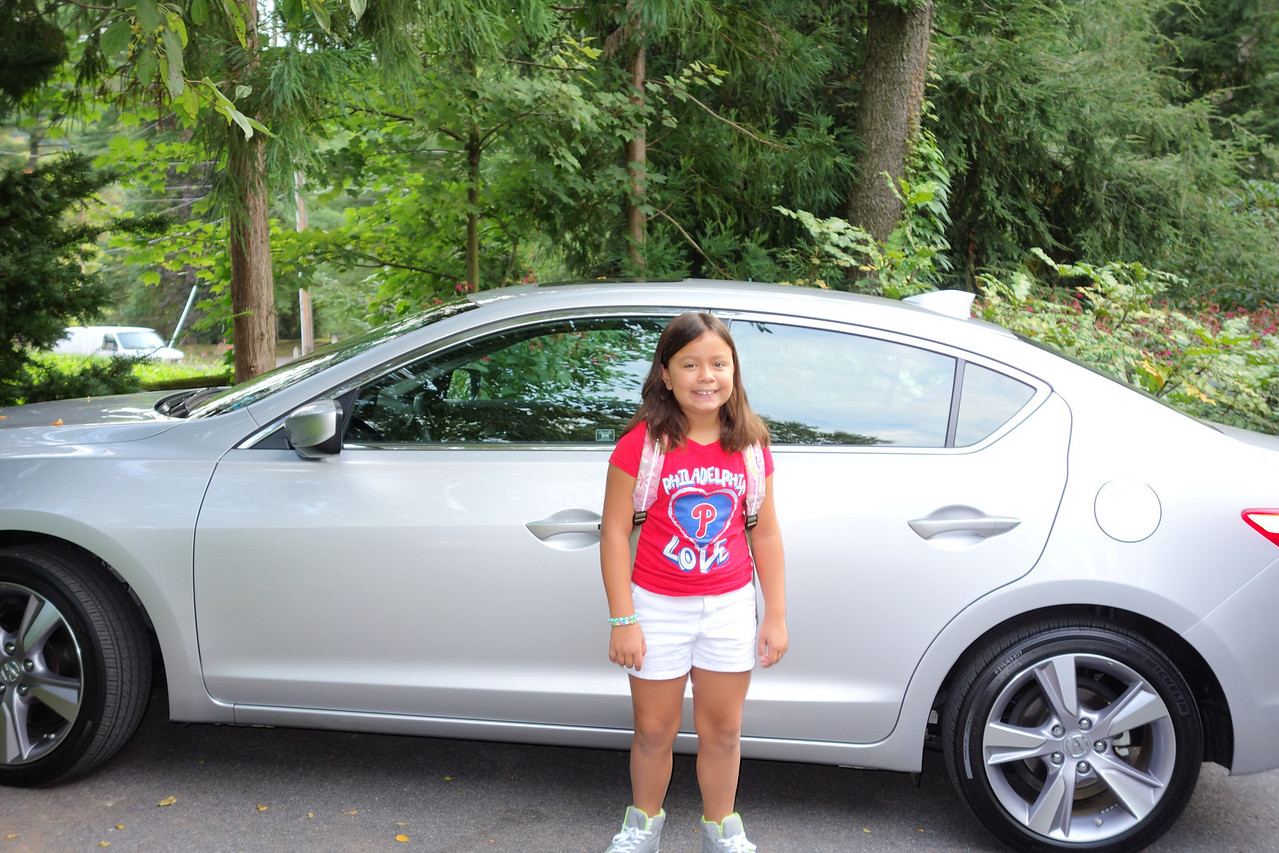 Kaidyn with her Daddy's new car
