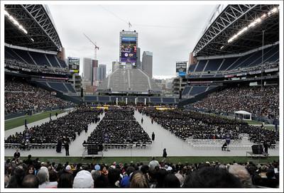 Raymen's graduation ceremony.