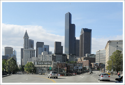 Seattle is a very pretty city.  I took this from the front seat of Jake's mom's car on the way home from Costco.