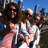 Christina, Anitra, Elisa, and Elena on the Seattle Waterfront.