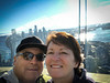 Rick and Wendy in the Space Needle.