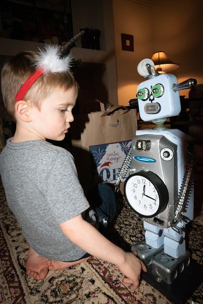 Wyatt and Robot Thomas.