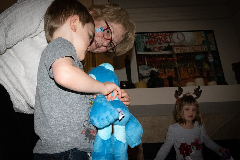 Great Aunt Ronna with Wyatt and Abi.