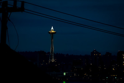 Christmas tree atop the Space Needle.