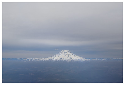 Mt. Ranier from the plane on the way to Seattle