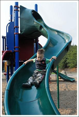 Tyler on the slide