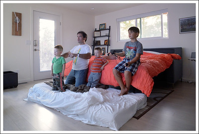 Cindy and the boys used the master bedroom.  There were 4 bedrooms with king size beds in of them.