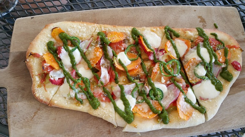 Virginia's veggie flatbread