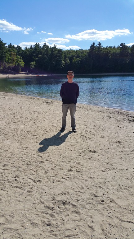 Walden pond - on a beautiful sunny day!