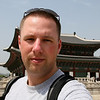Standing in front of Gyeongbokgung Palace in Seoul.