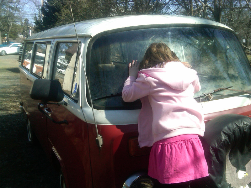 My daughter inspects and approves. May 2012