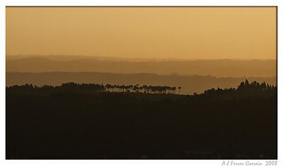 Vista para Leste, ao fim da tarde (Castelo das Chãs)