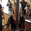 They had already sold their largest sword, so here is Lila and their 2nd largest sword in the shop.<br /> MN Renaissance Festival, 2016