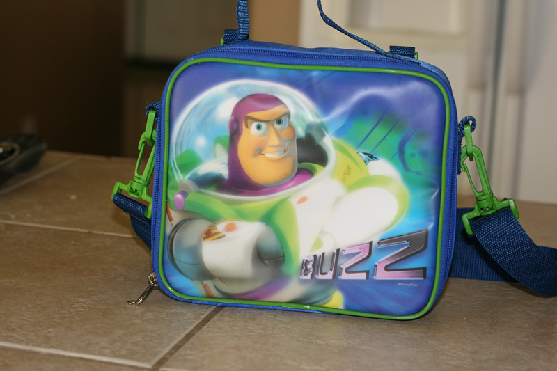They wouldn't allow Darth Vader lunch boxes but Buzz is still pretty cool.