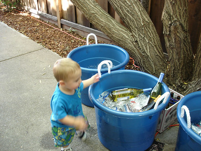 The best part about the party was the ice buckets.