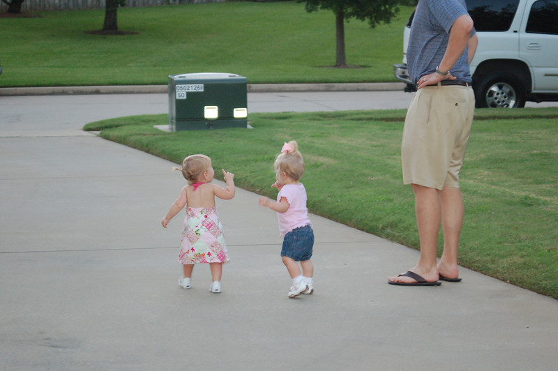 Hallie and Morgan thought they coule escape down the driveway