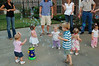Hallie, Riley, Sawyer, Spencer, Morgan, and Ryleigh all playing in the bubbles