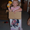 Claire wanted her turn in the box, too.