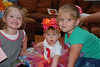Camden and Claire loved helping Carlyle with her gifts.