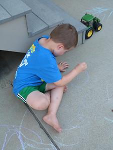 Driveway chalk time!