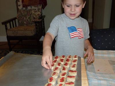 "Lightning McQueen ""Cars"" cookies at Grandma's house"