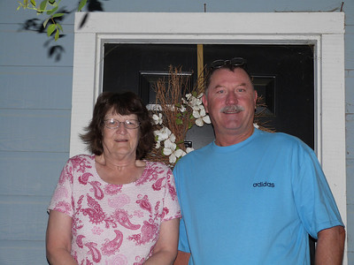Walt McCormick and his sister Maxine came to visit