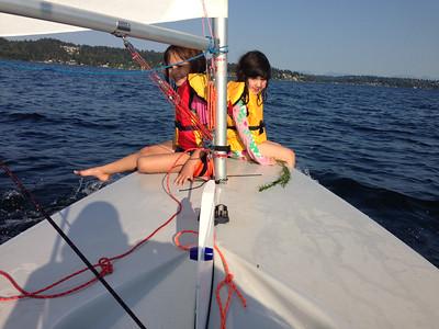 Hannah and Leah end of summer sail